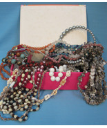 Old Jewelry Beads Shells Cigar-Box Full for Arts & Crafts Projects Parts... - $29.99