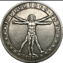 Rare New Hobo Nickel 1890 Morgan Dollar Leonardo da Vinci The Vitruvian Man - $11.99