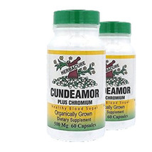 Bitter Melon Extract, Cundeamor Plus Chromium - 500mg - 2 Pack! by Herbacure