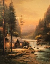 Evening in the Forest By Thomas Kinkade - $710.00