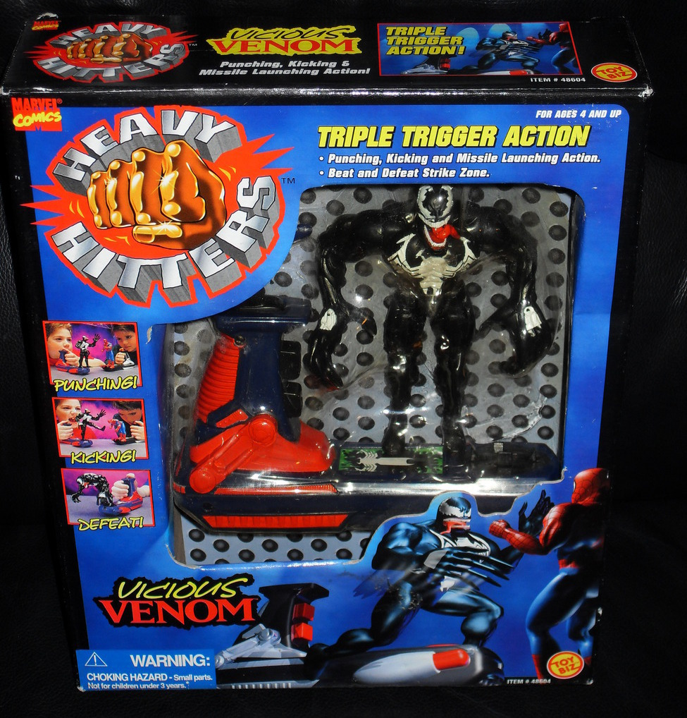 Primary image for 1996 Marvel Spider Man Vicious Venom Heavy Hitters In The Box
