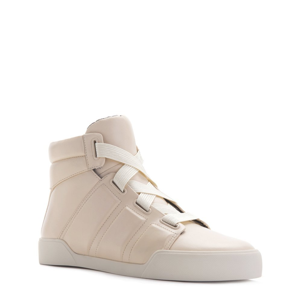 3.1 Phillip Lim Women' s Morgan High Top Sneakers SHF5-T136BXA Procelain SZ 37