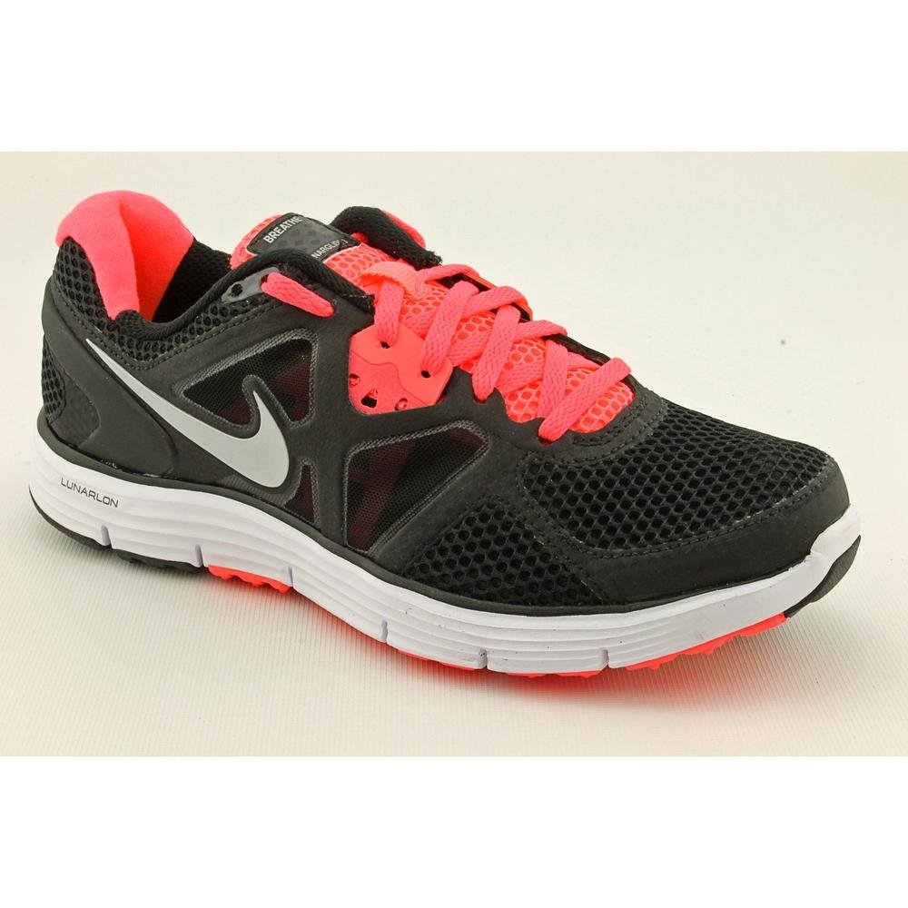 Nike Lunarglide+ 3 Breathe Womens Size 6 Black Mesh Running Shoes