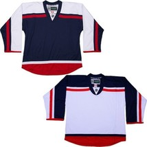 Customized NHL Style Replica Hockey Jersey w/ NAME  NUMBER Columbus Blue Jackets - $42.13