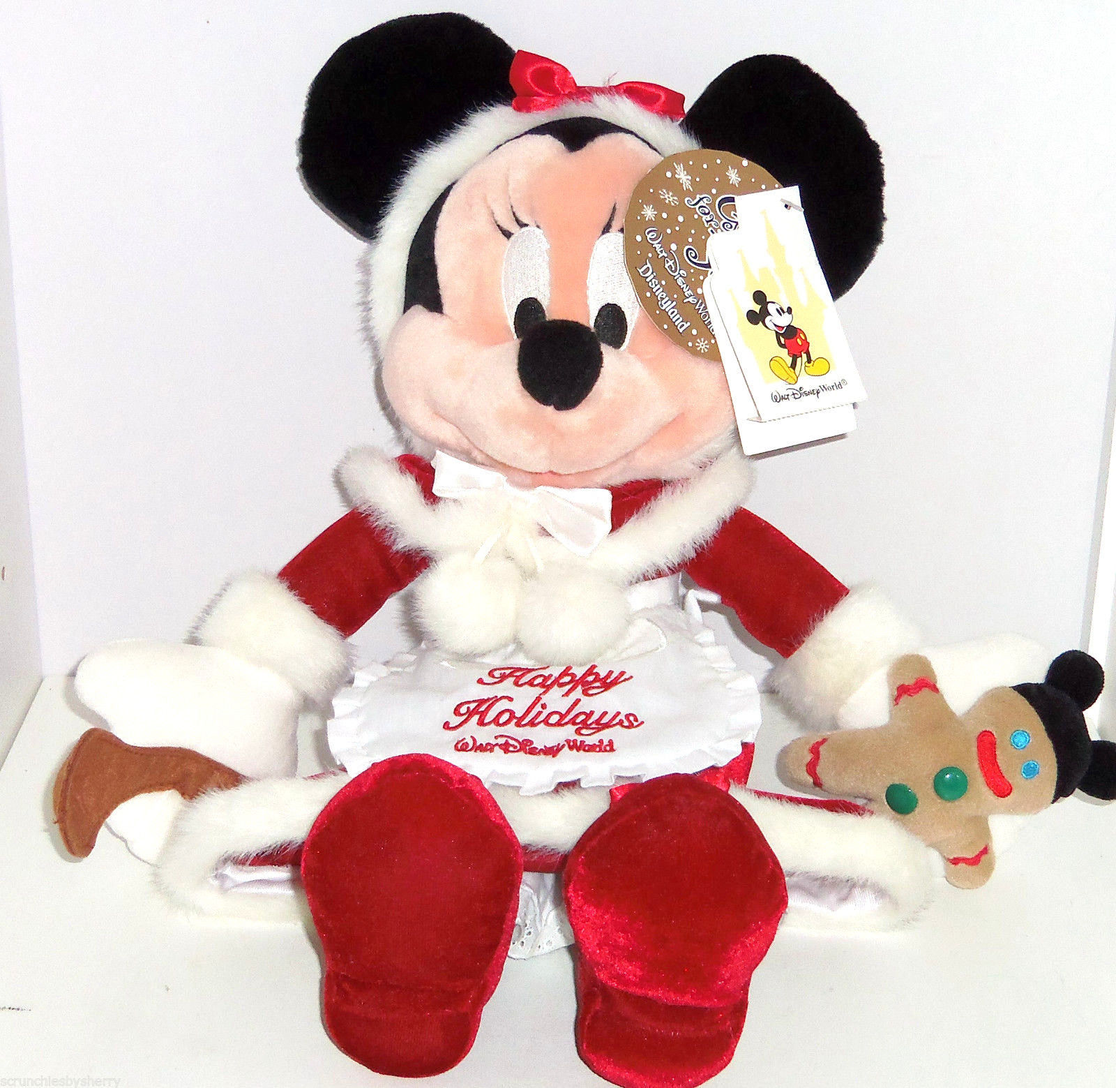 Christmas Toys Disney : Walt disney world minnie mouse plush mrs claus christmas