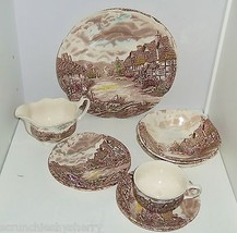 13 Olde English Countryside Plate Bowl Gravy Boat Saucers Johnson Brothers VTG - $49.95