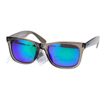 KUSH Fashion Sunglasses Multicolor Mirror Lens Gray Rectangular Frame - $8.95