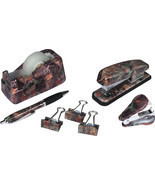 New 7 Piece Camo Office Desk Set - $18.99