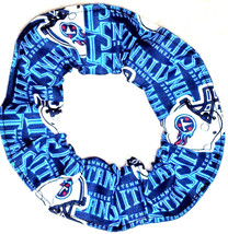 Tennessee Titans Hair Scrunchies by Sherry  Blue Fabric Tie Ponytail Holder NFL  - $6.99+