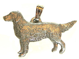 Golden Retriever Pendant Dog Harris Fine Pewter Made in USA jewelry - $10.99