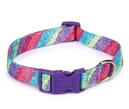 Confetti Print  Dog Collar Dog Collars Blue  Pink East Side Collection - $10.99