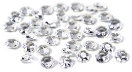 2000 Clear Diamond Table Confetti Wedding Bridal Shower Decor 1 Carat/ 6... - $6.79