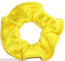 Dandelion Yellow Lightweight Knit Fabric Hair Scrunchie Scrunchies by Sherry  - $6.99