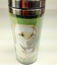 Yellow Lab Insulated Tumbler Travel Mug Coffee Thermos Dog Labrador Retr... - $12.50