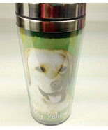 Yellow Lab Insulated Tumbler Travel Mug Coffee Thermos Dog Labrador Retr... - $12.50