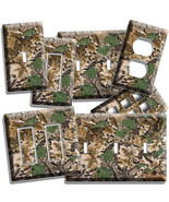 MOSSY OAK TREE LEAVES HUNTER CAMO CAMOUFLAGE LIGHTSWITCH OUTLET WALL PLATE COVER - $7.99