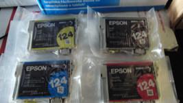 Epson 124  inks / set of 4 in factory vacume pack bags - $23.76
