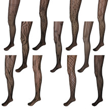 Adorox Black Unique Pattern Net Lace Stockings Fishnet Tights One Size F... - $75,91 MXN