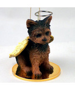 YORKIE (PUPPY CUT) ANGEL DOG CHRISTMAS ORNAMENT HOLIDAY Figurine Statue Gift - $12.38