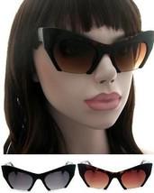 Large Matte Big Cat Eye Rasoir Half Frame Cut Off Miu Sunglasses Razor G... - $7.45