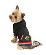 Puppy Pride Rainbow Gay Dog Pullover Hoodie XXS-XL Zack & Zoey Tee Pet T... - $26.99