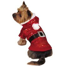 Zack & Zoey Santa Claus Sequin Dog Hoodies Hoodie Pet Christmas Xmas Red... - $14.99+