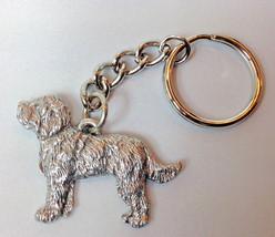 Labradoodle Dog Keychain Keyring Harris Pewter MadeUSA Key Chain Ring - $9.48