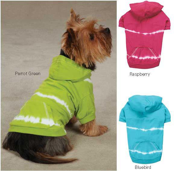 Tie Dye Dog Hoodie Pullover T-Shirt light weight hoodies shirt top tee hoody - $17.75