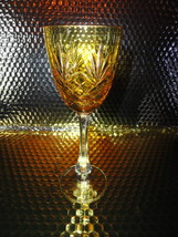 faberge odessa yellow gold crystal wine glass - $225.00