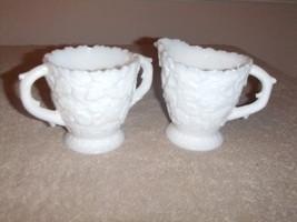 Milk Glass Westmoreland Cream & Sugar Vintage B... - $24.02