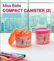 1 Set (2 Pcs) Miss Belle Compact Canister Tupperware Rare Limited - $29.99