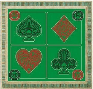 Play playing cards cross stitch chart Alessandra Adelaide Needleworks