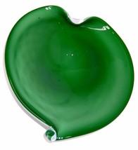 Italian Murano Green Cased Glass Dish - Bowl Vi... - $125.00