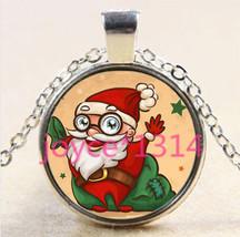 Cartoon Santa Cabochon Necklace C/S & H Available 404 - $3.00