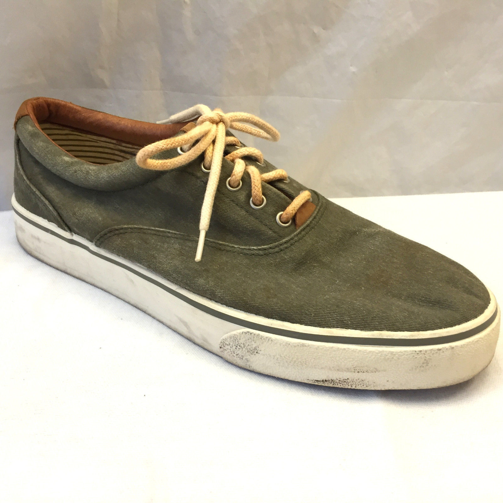 G.H. Bass Sneakers Canvas Mens Size 11.5 M Olive Lace Up ...