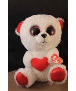 """Ty Beanie Boos ~ CUDDLY BEAR with Heart 6"""" Stuffed Plush Toy ~ WITH TAGS - $5.23"""