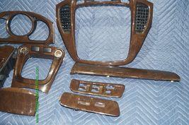 01-07 Toyota Highlander Woodgrain Dash Trim Kit Vents Console 8pc image 12