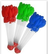 Water Balloon Easy Filling 1 PACK Lot Color Party Pool Favors Red FREE S... - £7.29 GBP