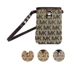 Michael Kors MK Women's Cut Out Leather Canvas Purse Belt Fanny Pack Bag 551501