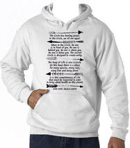 AMERICAN NATIVE DAVE CHIEF CIRCLE - NEW COTTON WHITE HOODIE - $38.08