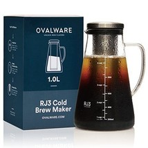 Airtight Cold Brew Iced Coffee Maker and Tea Infuser with Spout - 1.0L /... - $48.50