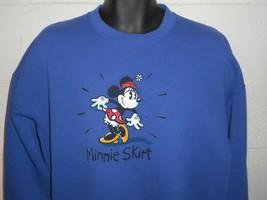 "Vintage 90s Disney Minnie Mouse ""Minnie Skirt"" Sweatshirt XL - $24.99"