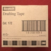 3M Scotch Drafting Tape Category 172 12 Rolls 3/4 in x 400 in Discontinued - £56.83 GBP