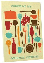 "Pingo World 0718QNBRTB4 ""Proud of My Gourmet Kitchen"" Gallery Wrapped Canvas Wal - $42.52"