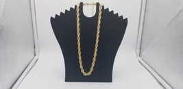 Vintage Thick Gold Tone French Rope Choker With Lobster Clasp And Safety... - $25.14