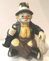 Emmett Kelly Clown Porcelain Music Box San Francisco Music Box Co - $10.95