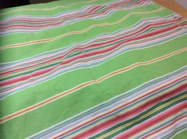 POTTERY BARN NEWPORT STRIPE STANDARD PILLOW SHAM GREEN PINK RED 22 X 29 - $11.30