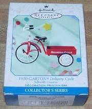 Hallmark Keepsake Ornament 1999 1950 Garton Delivery Cycle Sidewalk Cruisers - $13.85