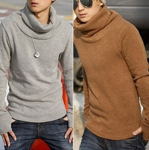 New men's fashion Thermal long sleeve sweater