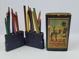 Vintage J.S. Staedtler Polycolor Pencils w/ Box & Fold-out stand colored pencils - $186.99